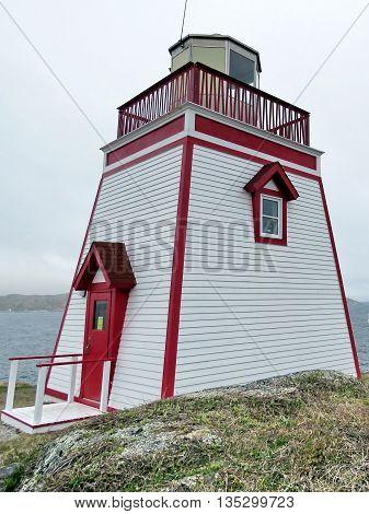 Saint Anthony Lighthouse in Newfoundland 8 June 2016 Canada