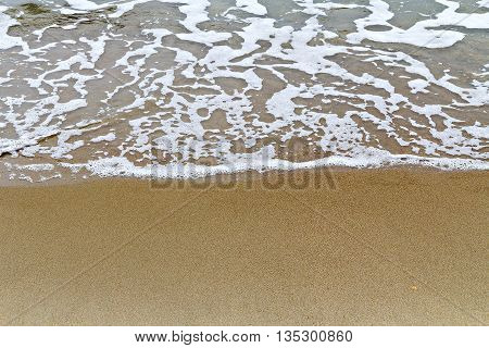 Soft Wave Of The Sea On The Sand Beach