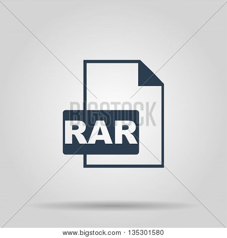 RAR Icon. Vector concept illustration for design.