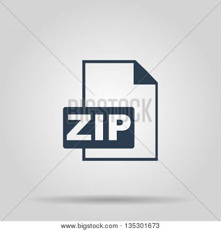 ZIP Icon. Vector concept illustration for design.