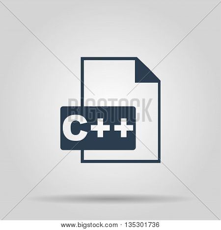 C Icon. Vector concept illustration for design.