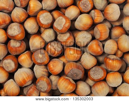 Set of hazelnuts can be used as a background