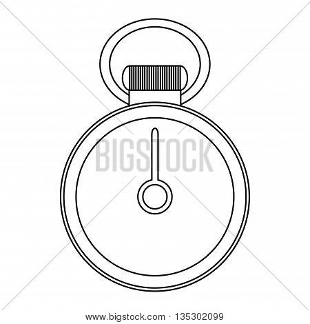 simple black line chronometer without numbers vector illustration