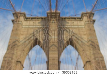 Close Shot Of The Brooklyn Bridge During Day