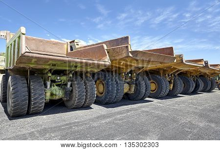 Heavy equipment industrial mining dump trucks for construction