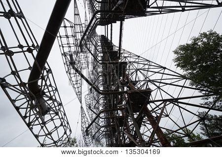 soviet duga radar in Pripyat, Chernobyl