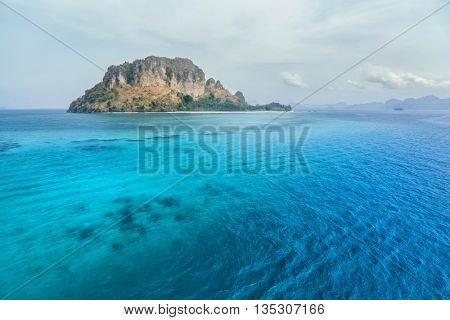 View of the rocky island of Koh Poda in Andaman sea, Thailand