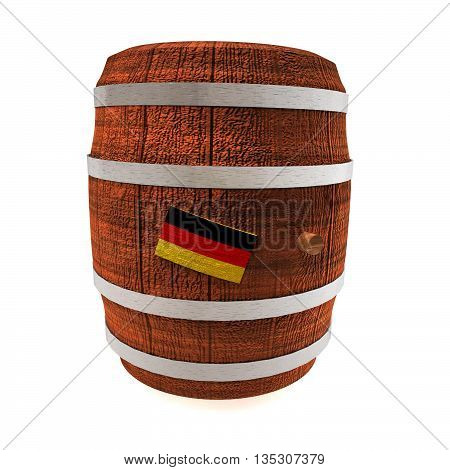 Barrel Of Wine With Germany Flag