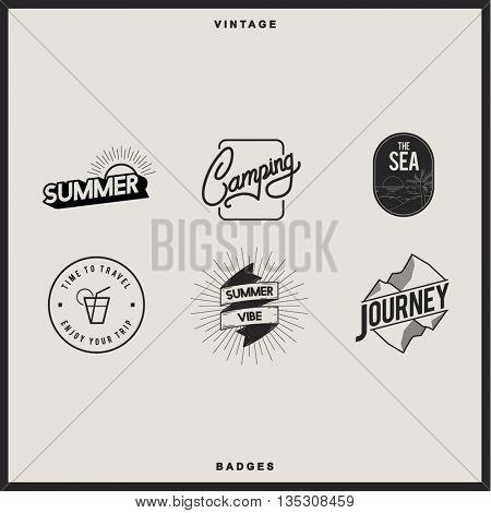 Icon Symbol Badge Logo Collection Journey Concept