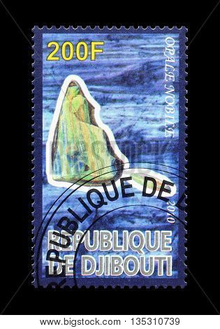 DJIBOUTI - CIRCA 2010 : Cancelled postage stamp printed by Djibouti, that shows Opale nobilit.