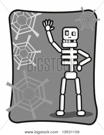 Funny Skeleton Say Halo