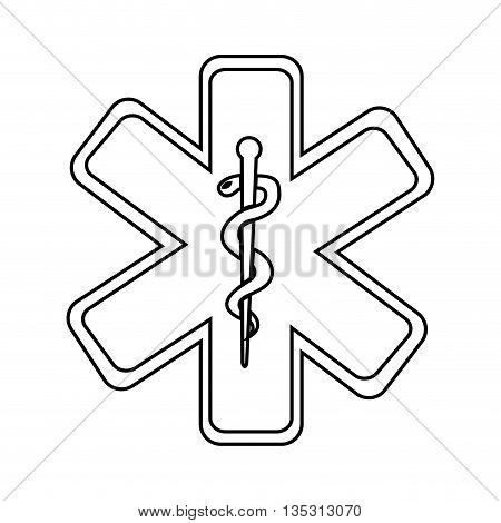 caduceus medical symbol isolated icon design, vector illustration  graphic