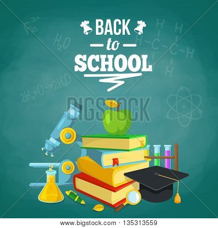 Bright background for education topic. Vector composition.