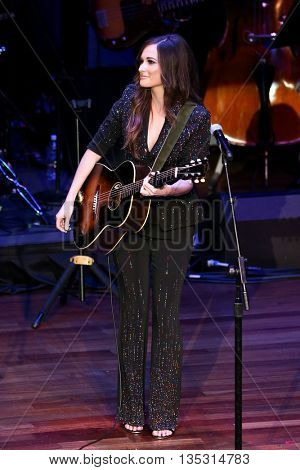 NASHVILLE, TN-SEP 1: Kacey Musgraves performs onstage during the 9th Annual ACM Honors at the Ryman Auditorium on September 1, 2015 in Nashville, Tennessee.