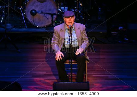NASHVILLE, TN-SEP 1: Roy Clark performs onstage during the 9th Annual ACM Honors at the Ryman Auditorium on September 1, 2015 in Nashville, Tennessee.