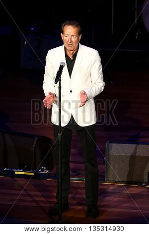 NASHVILLE, TN-SEP 1: Barry Adelman accepts the Mae Boren Axton Award during the 9th Annual ACM Honors at the Ryman Auditorium on September 1, 2015 in Nashville, Tennessee.