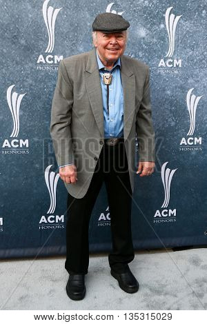NASHVILLE, TN-SEP 1: Roy Clark attends the 9th Annual ACM Honors at the Ryman Auditorium on September 1, 2015 in Nashville, Tennessee.