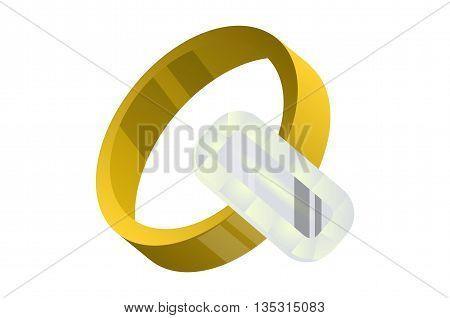 Diamond ring , gold ring with diamonds