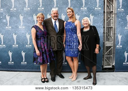 NASHVILLE, TN-SEP 1: (L-R) Pam Morrow, Greg Morrow, Keely Morrow and Charlotte Morrow attend the 9th Annual ACM Honors at the Ryman Auditorium on September 1, 2015 in Nashville, Tennessee.