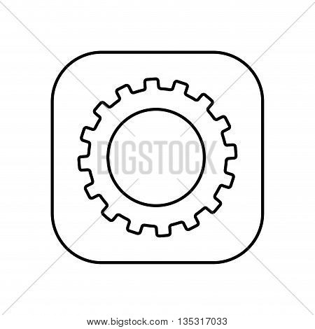 gear setup button isolated icon design, vector illustration  graphic