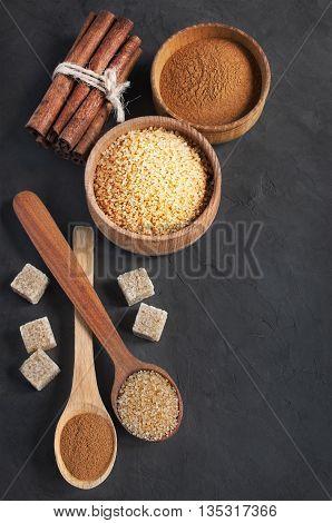 Brown Cane Sugar And Cinnamon