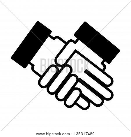 hands shake isolated icon design, vector illustration  graphic