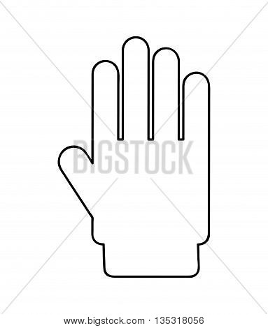 hand stop  isolated icon design, vector illustration  graphic