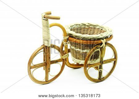 Bicycles, tricycles pot on white background and isolated