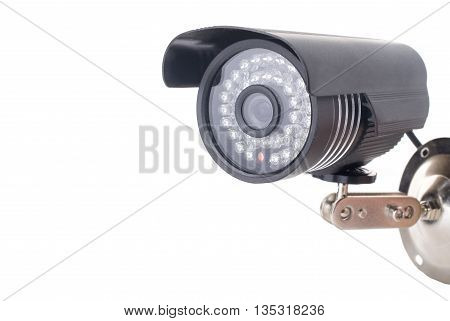 Day and Night Color wireless surveillance camera isolated on white background, with clipping paths