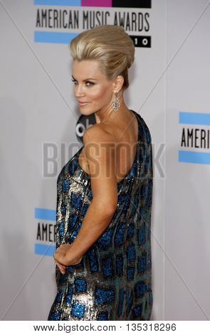 Jenny McCarthy at the 2010 American Music Awards held at the Nokia Theatre L.A. Live in Los Angeles, USA on November 21, 2010.