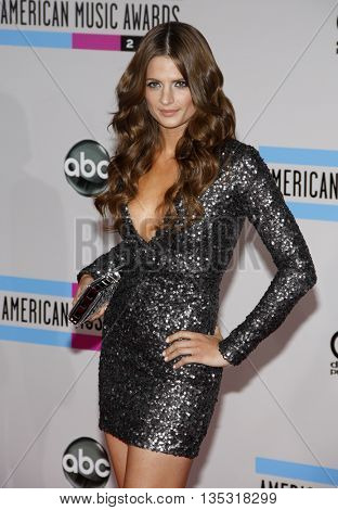 Stana Katic at the 2010 American Music Awards held at the Nokia Theatre L.A. Live in Los Angeles, USA on November 21, 2010.