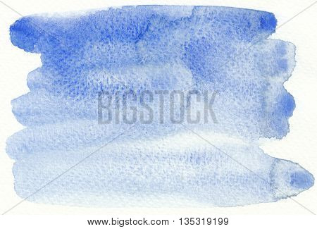 blue brush stroke wet textures abstract background