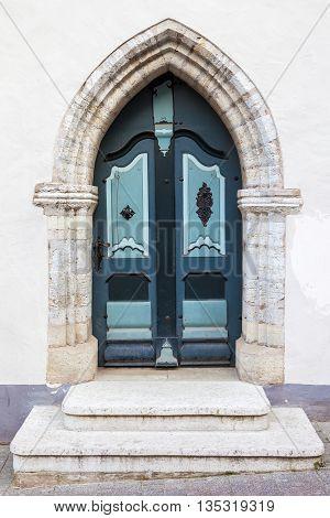 Vintage Door In Old Tallinn City, Estonia
