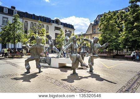 LUXEMBOURG, LUXEMBOURG - JUNE19, 2016:  Sculptural group