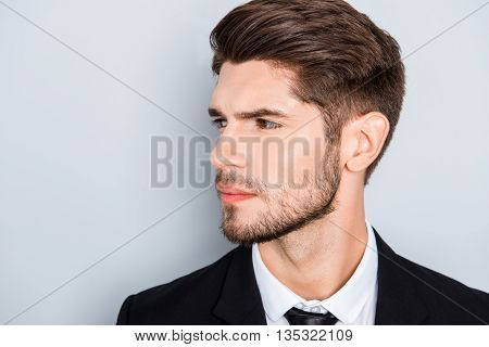 Portrait Of Handsome Sexy Young Successful Business Man