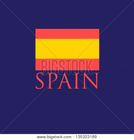 Beautiful icon with the Spanish flag and the inscription Spain