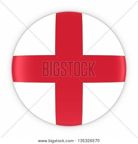 English Flag Button - Flag of England Badge 3D Illustration