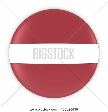 Latvian Flag Button - Flag Of Latvia Badge 3D Illustration