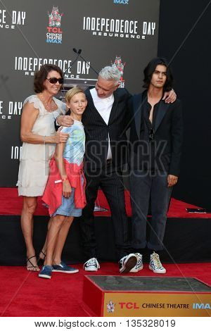 LOS ANGELES - JUN 20:  Guest, nephew, Roland Emmerich at the Roland Emmerich Hand And Footprint Ceremony at the TCL Chinese Theater IMAX on June 20, 2016 in Los Angeles, CA