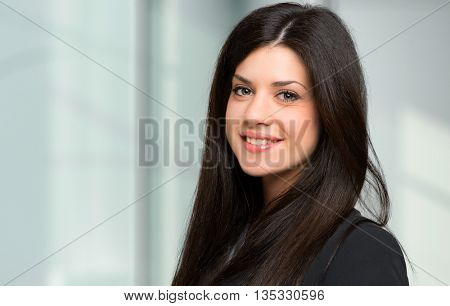 Charming young businesswoman portrait