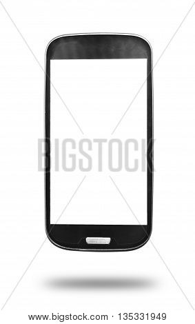 smart phone isolated on white background with clipping path.