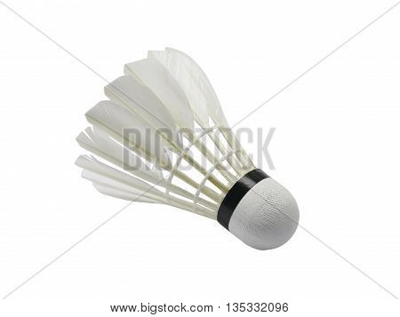 shuttlecock badminton in white background isolate with clipping path