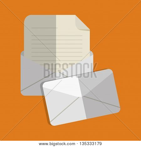Email represented by envelope icon design. Colorfull and flat illustration