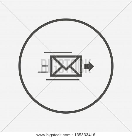 Mail delivery icon. Envelope symbol. Message Flat envelope icon. Simple design envelope symbol. Envelope graphic element. Round button with flat envelope icon. Vector