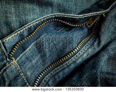 a zip jean, a denim worker style