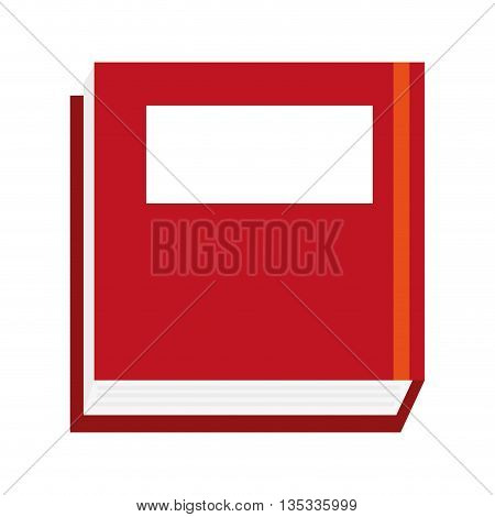 thick red book cover with blank box vector illustration