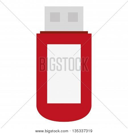 red white and grey usb vector illustration