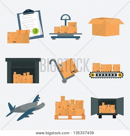 Delivery design over white background, vector illustration.