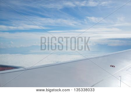 View Of Clouds From High Up In The Sky (it Was Actually Taken From A Plane)