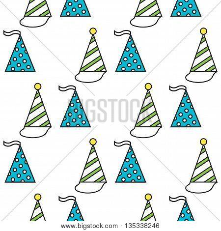 Party hats. Seamless festive pattern. Vector illustration